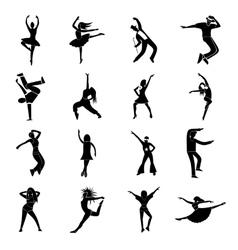 Dances simple icons set vector