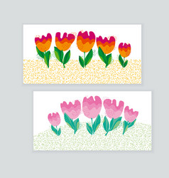 decorative cute bright tulip flower vector image