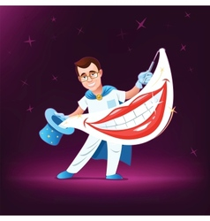 Dentist magician vector image vector image
