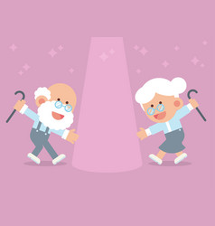 elderly couple dancing vector image