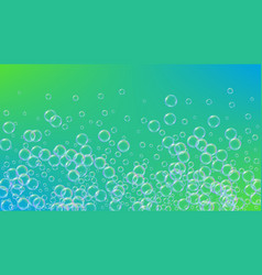 fizz background with shampoo foam and soap bubbles vector image
