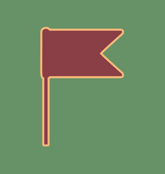flag sign cordovan icon and vector image