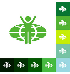 Flat icon stick figure business theme vector