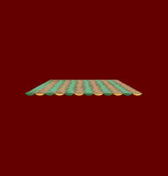 Flat shading style icon roof awning vector