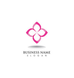 floral patterns logo and symbols on a white vector image