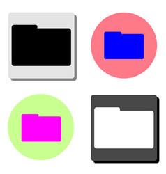 folder flat icon vector image