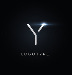 futurism style letter y minimalist type for vector image