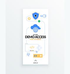 Get free demo access to saas paas or iaas vector