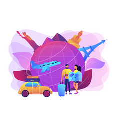 Global travelling concept vector