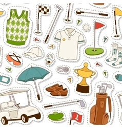 Golf seamless pattern vector image