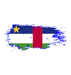 grunge brush stroke with central african republic vector image