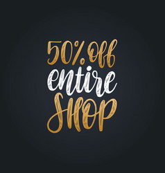 handwritten phrase of 50 percents off vector image