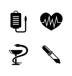 healthcare simple related icons vector image