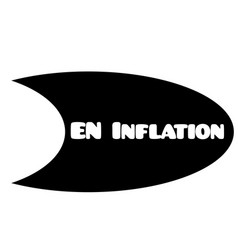 Inflation stamp on white vector
