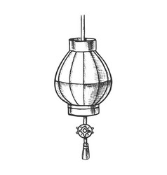 japanese lantern festive ornament retro vector image