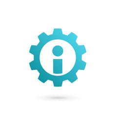 letter i technology logo icon design template vector image