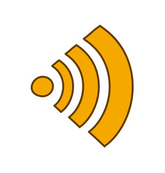 Light colored hand drawn silhouette of wifi signal vector