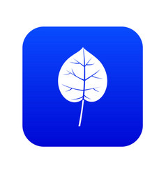 Linden leaf icon digital blue vector