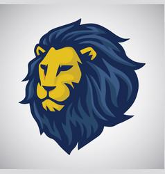 lion mascot logo vector image