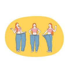 losing weight slim diet concept vector image