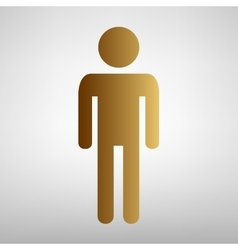 Man sign Flat style icon vector image