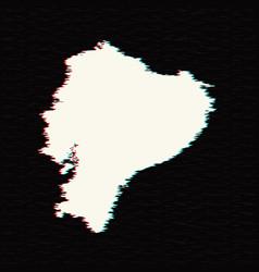 map ecuador isolated black vector image