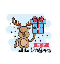 Merry chirstmas traditional celebration event vector