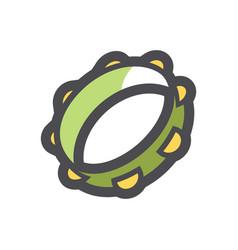 Musical tambourine beanbag icon cartoon vector