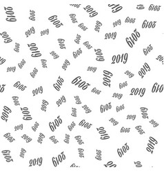 New year seamless pattern on the white background vector