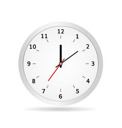Office clock classic white vector