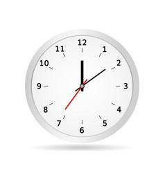 Office clock classic white vector