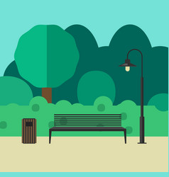 outdoor furniture and lighting vector image