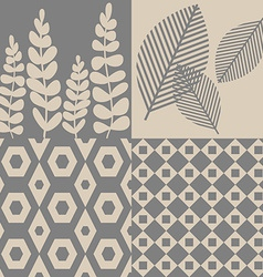 Patterns in grey and beige vector