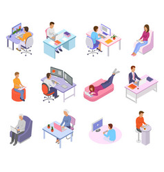 people work place business worker character vector image