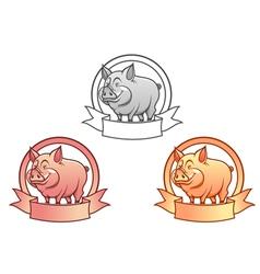 pig logo vector image