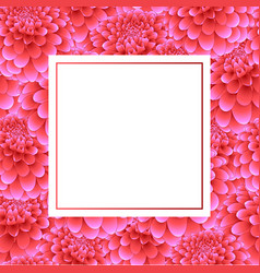 pink dahlia banner card vector image