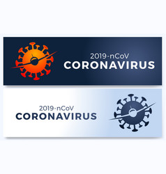 poster flight cancelled with plain virus vector image