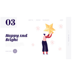 Preparation for new year and christmas website vector