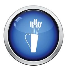 Quiver with arrows icon vector image
