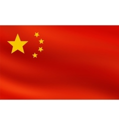 Red flag of Republic of China vector