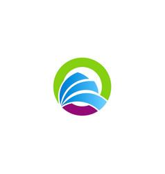 round loop abstract company logo vector image