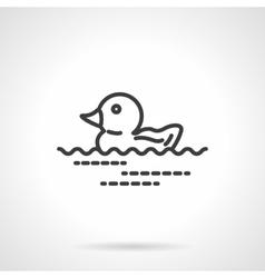 Rubber duck icon black line design icon vector image