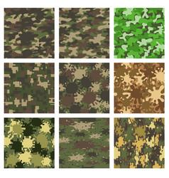 set camouflage patterns design element for vector image