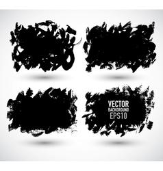 Set grunge Banner vector image