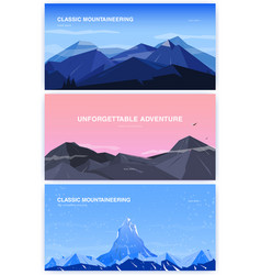 set horizontal background with mountains vector image