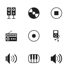 set of 9 editable song icons includes symbols vector image
