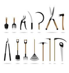 Set of gardening tools a set of gardening tools vector