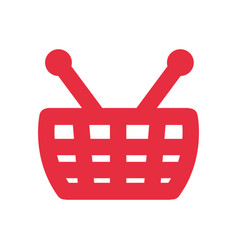 shopping basket symbol vector image