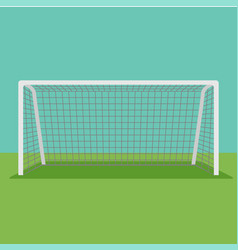 Soccer goal flat icon on background vector