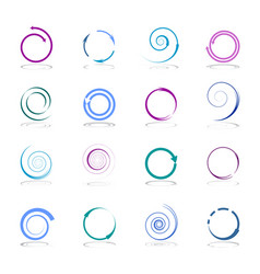 spiraldesign elements vector image
